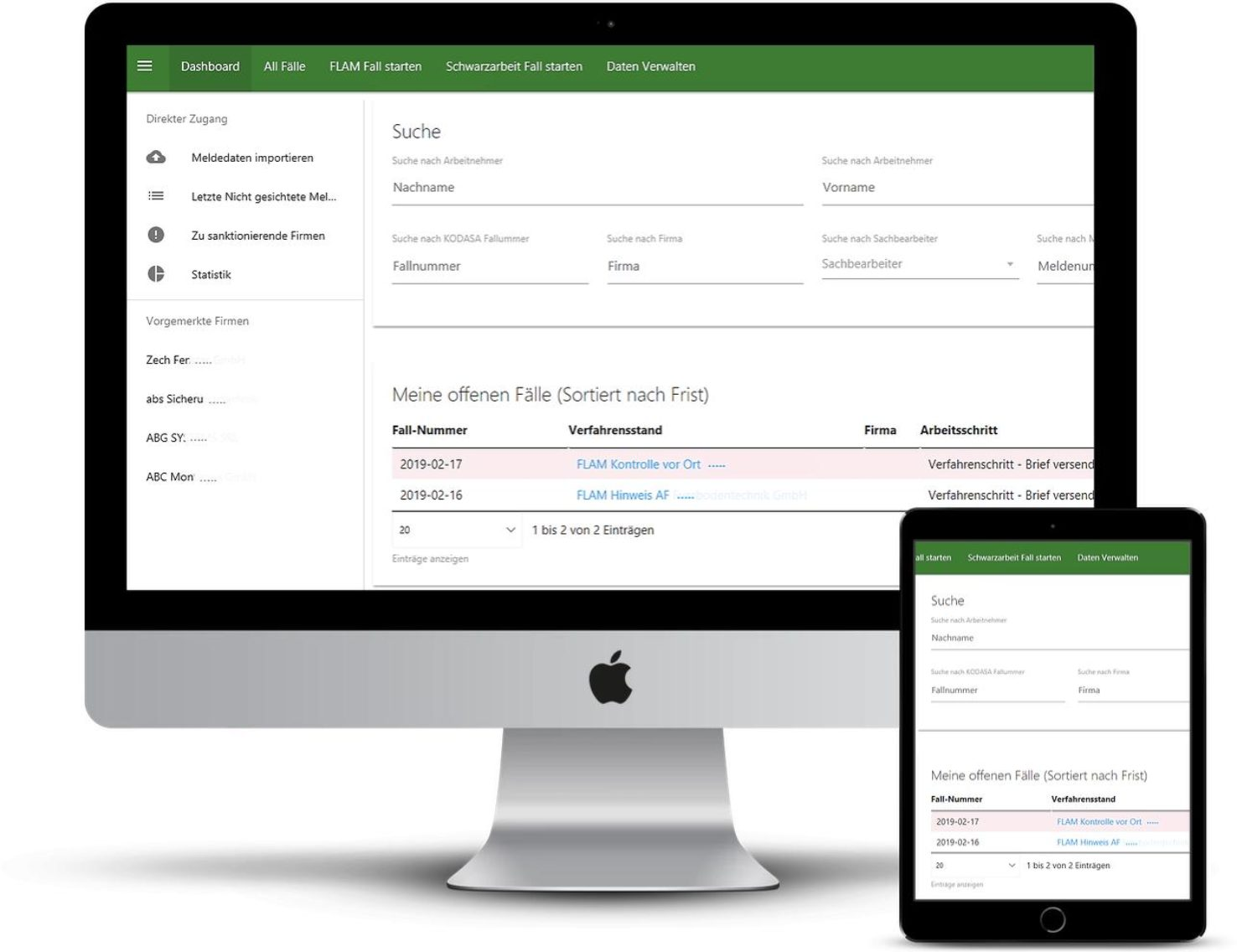 Ratsinformationssystem Dashboard - Liefert eine Übersicht der offenen Anträge