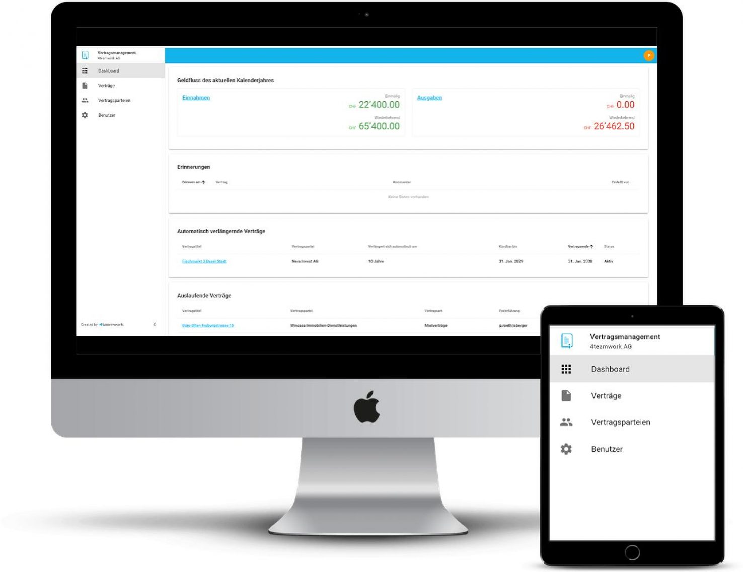 Vertragsmanagement Dashboard